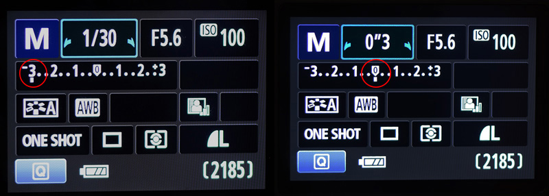 Camera Metering Indicator which helps to determine the perfect exposure.