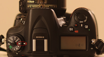 Mode Dial on Nikon D7100 DSLR showing Manual Mode selection for Nikon DSLR cameras.