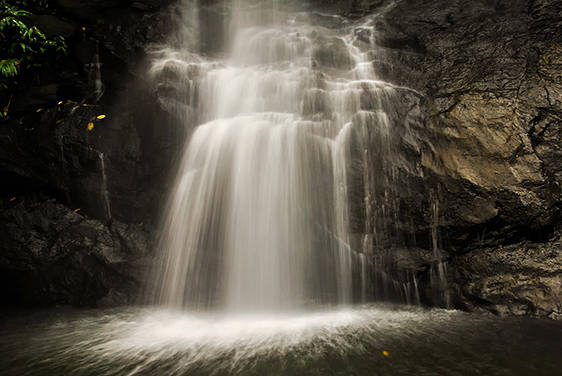 Waterfall Photography Tips. Beautiful Waterfalls in a conffee estate in Coorg, India