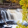 Best Nature Photos.Manabezho falls in Porcupine Mountains Wilderness Park, Upper Peninsula, Michigan, USA . Migratory Birds. National Bird and Animal of America. Nature, Wildlife, Bird, and Landscape Photography by Prathap.