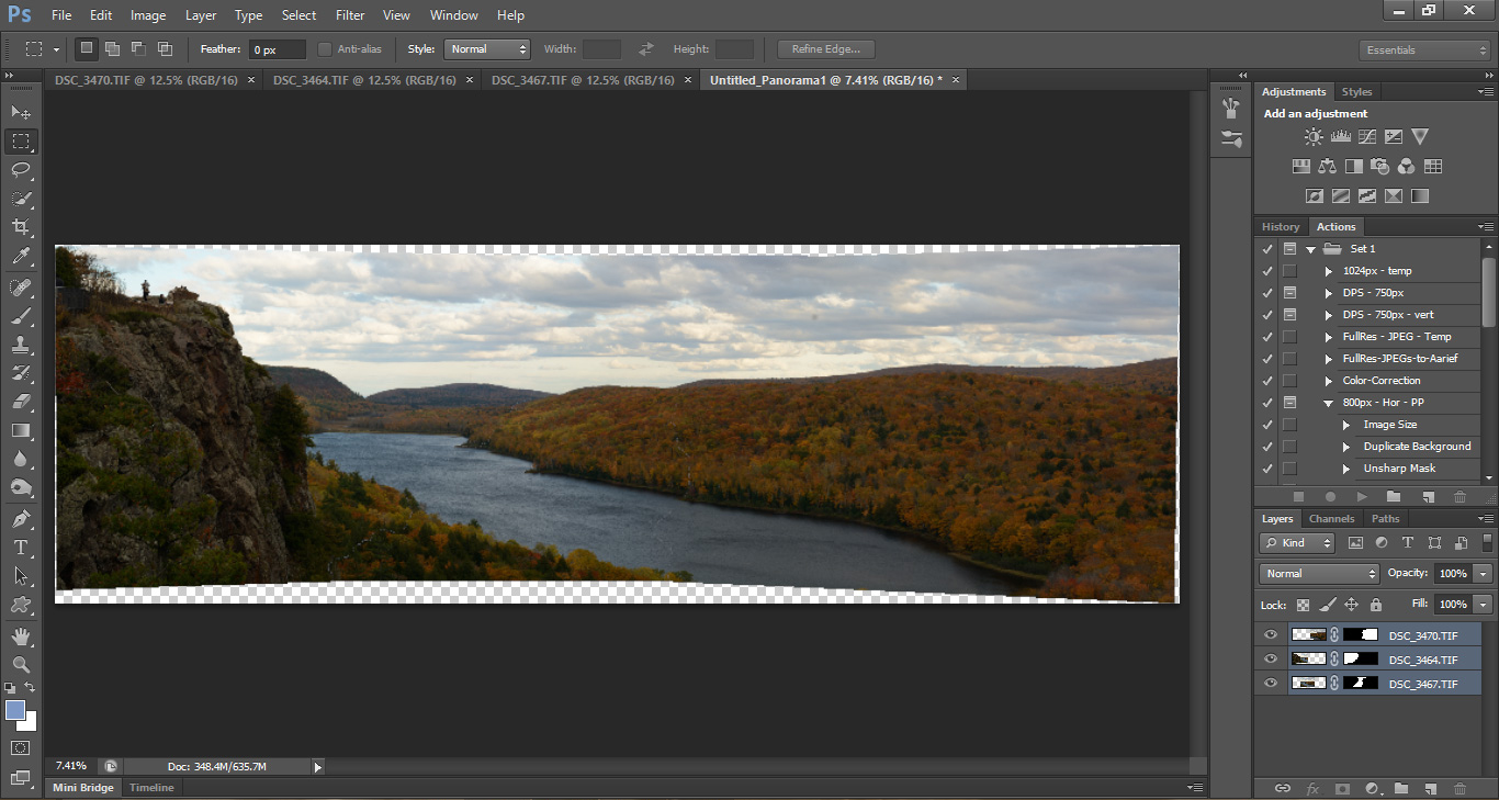 Post Processing Tips for Panorama Photographs in Adobe Photoshop.  creating stunning panorama photographs. Nature, Landscape, Bird, and Wildlife Photography by Prathap.