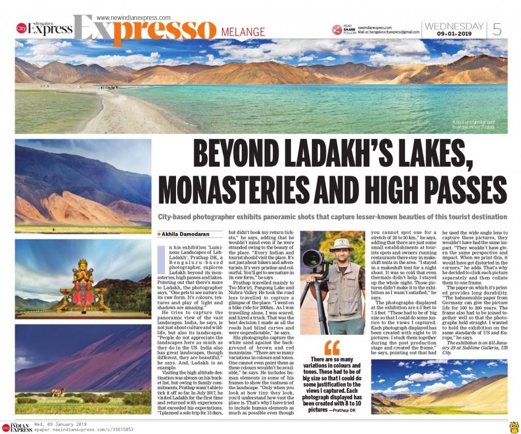 Leh Ladakh photography exhibition by Prathap D K