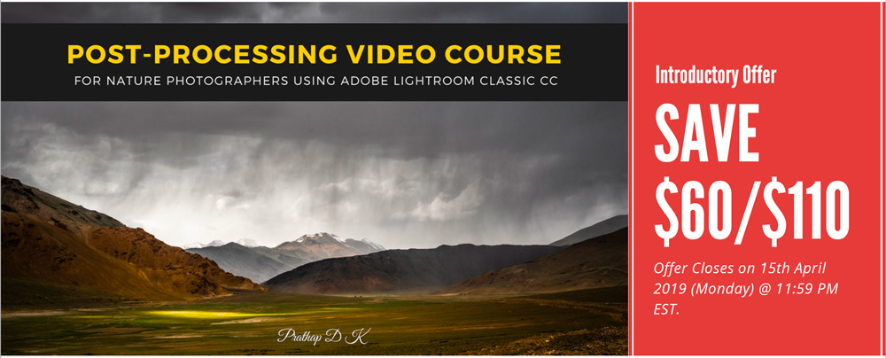 Post-Processing for Nature Photographers is a step-by-step video course for learning Post-Processing using Adobe Lightroom software