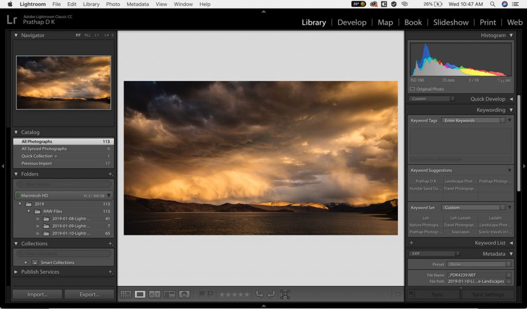 Adobe Lightroom Creative Cloud Post-Processing Video Course for Nature, Wildlife, Bird, and Landscape Photographers by Prathap D K