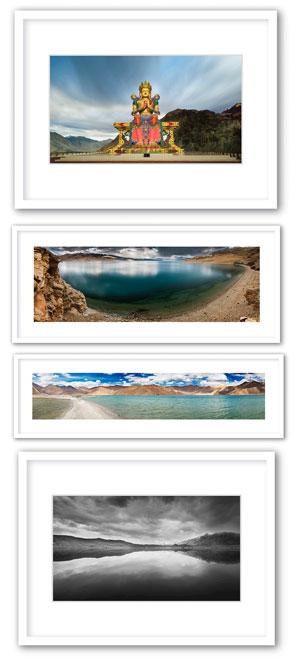 Leh Ladakh Exhibition prints and frames by Prathap D K.