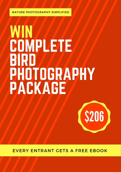 Free Giveaway. Bird Photography Settings Field Pack and eBooks by Prathap. Nature Photography Simplified.